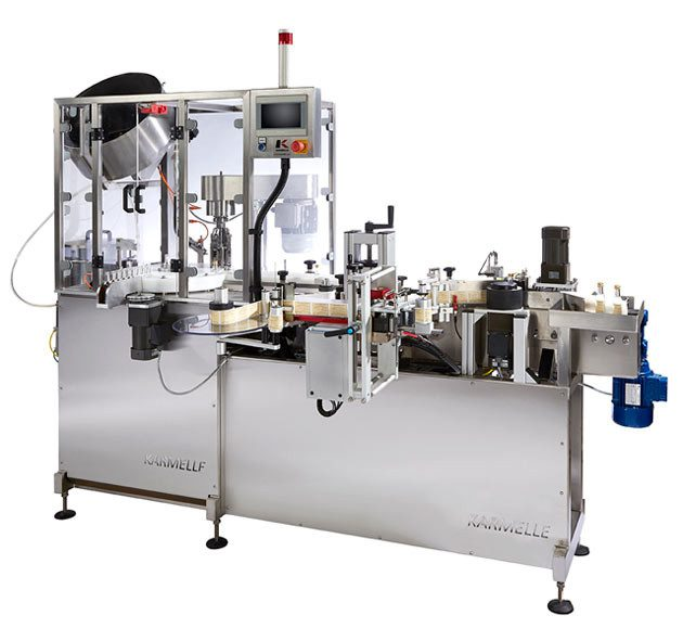 Mini Monoblock filling, capping and labelling machine