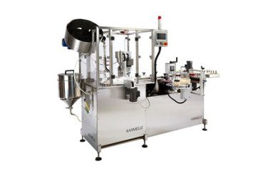 Mini Monoblock automatic filling, capping and labelling machine