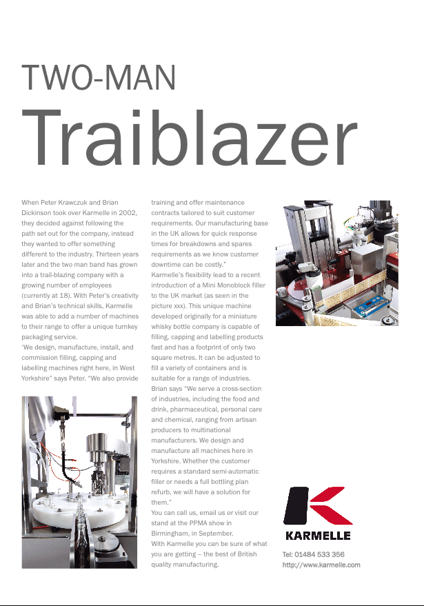 Packaging Yearbook 2015: Two-man Trailblazer